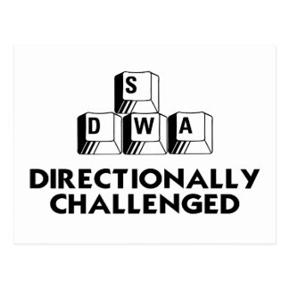 Directionally Challenged Postcard