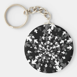 Directions Abstract Keychain
