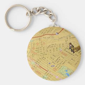 DIrections Basic Round Button Keychain