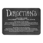 "Directions Card | Black Chalkboard Charm 3.5"" X 5"" Invitation Card"