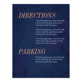 Directions Card, Information, Wedding Set Card