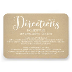 Directions Card | Kraft Brown