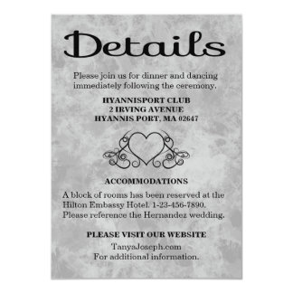 Directions / Details Black & Gray Watercolor Heart Card