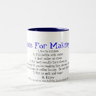 Directions for making coffee Two-Tone coffee mug