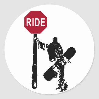 directions... ride? classic round sticker