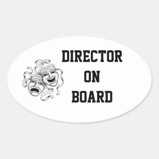 Director a bordo pegatina