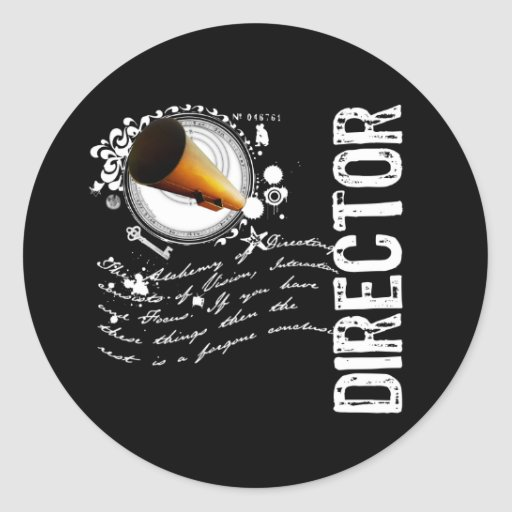 Director Alchemy Classic Round Sticker