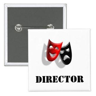 Director and Masks Badge Pins