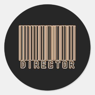 Director Barcode Classic Round Sticker