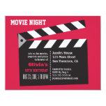 Director Board Movie Night Birthday Party 4.25x5.5 Paper Invitation Card