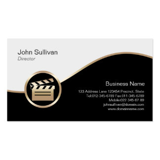 Director Business Card Gold Clapperboard Icon