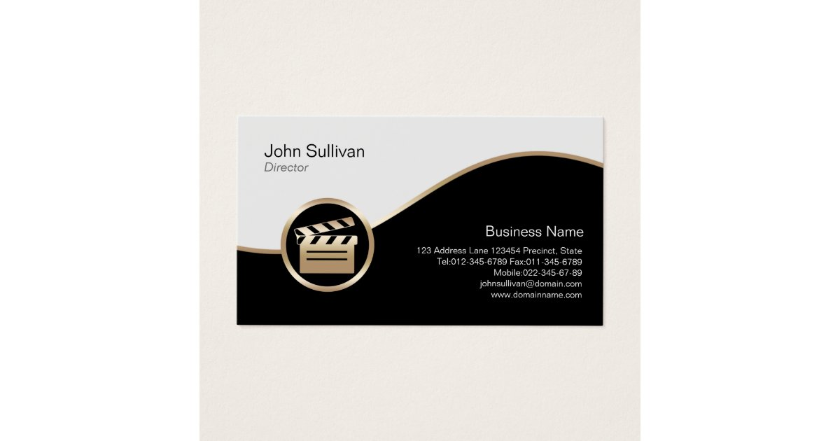 Clapperboard Business Cards & Templates | Zazzle