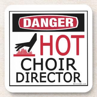 Director caliente del coro posavasos de bebidas