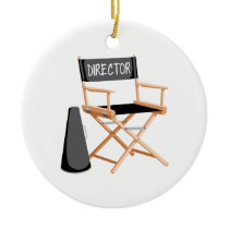Director Chair Ceramic Ornament