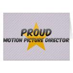 Director cinematográfico orgulloso tarjetas