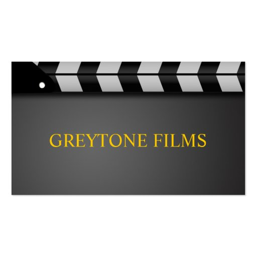 Film producer business cards standard size bizcardstudio director clapperboard film movies producer act business card templates colourmoves