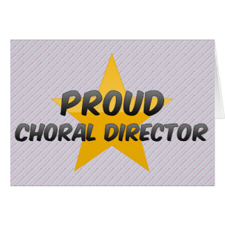 Director coral orgulloso felicitacion