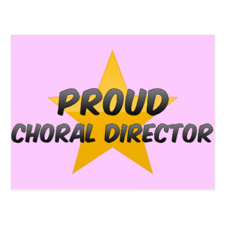 Director coral orgulloso tarjeta postal