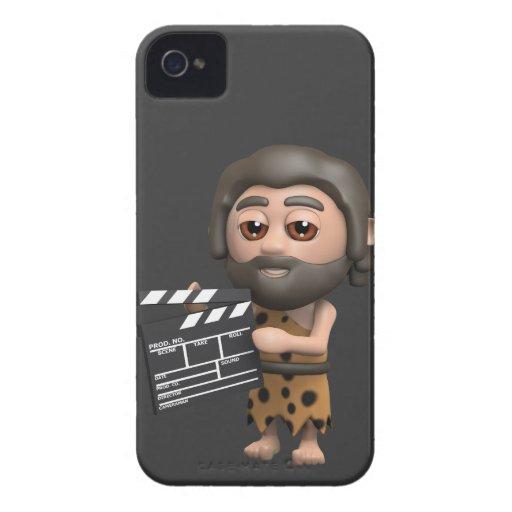 Director de cine divertido del hombre de las carcasa para iPhone 4