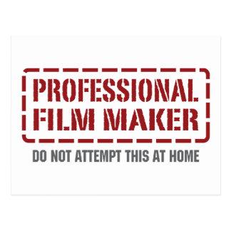 Director de cine profesional postal