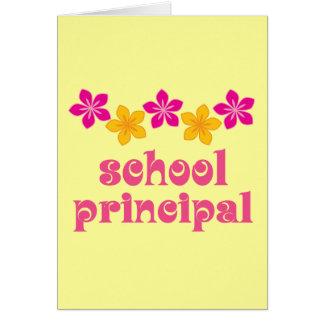 Director de escuela florecido tarjeta