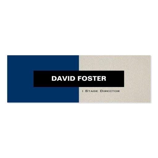 Director de etapa - elegante elegante simple tarjetas personales