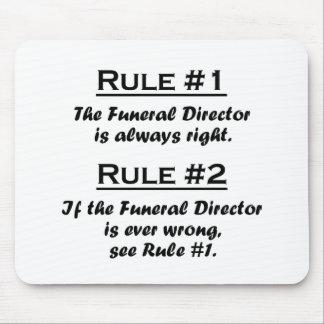 Director de funeraria de la regla tapetes de raton