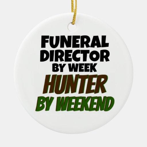 Director de funeraria del cazador de la semana por ornamento para arbol de navidad