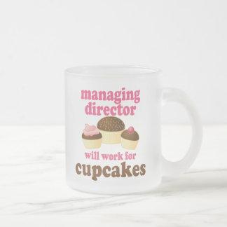 Director de gerente regalo (divertido) taza de café esmerilada