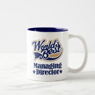 Director de gerente regalo para (mundos mejor) taza de café de dos colores