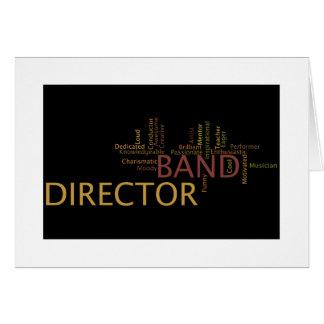 Director de la banda tarjeta