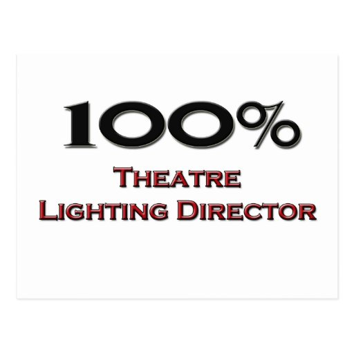 Director de la iluminación del teatro del 100 por  postal