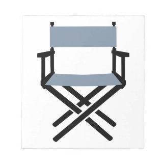 Director de la silla libretas para notas