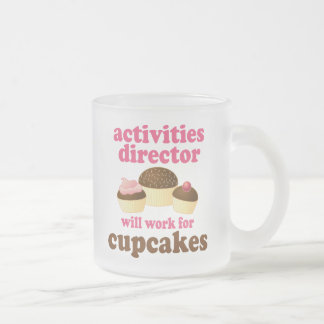 Director de las actividades regalo (divertido) taza cristal mate