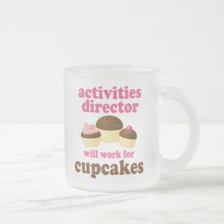 Director de las actividades regalo (divertido) taza de cristal