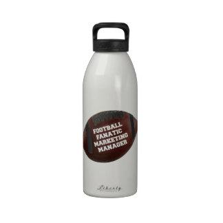 Director de marketing del fanático del fútbol botella de agua reutilizable