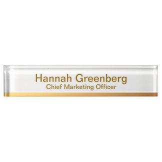 Director de marketing - placa de identificación 1