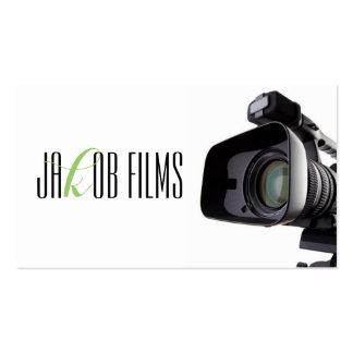 Director de película de la cámara de vídeo de la tarjetas de visita