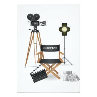 Director de película invitaciones determinadas invitación 12,7 x 17,8 cm