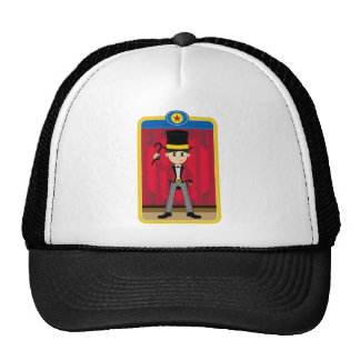 Director de pista de circo del circo del dibujo gorras