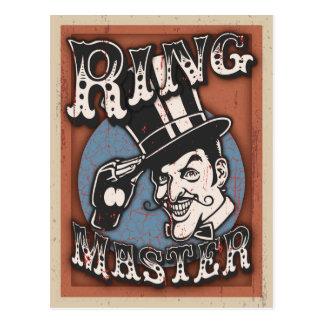 Director de pista de circo II Tarjetas Postales