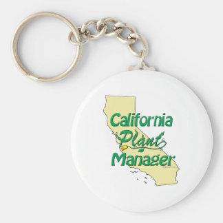 Director de planta de California Llavero Personalizado