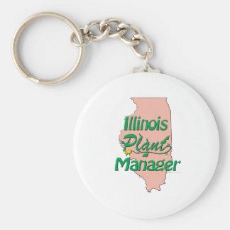 Director de planta de Illinois Llavero Personalizado