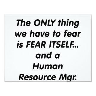 """director de recursos del ser humano del miedo invitación 4.25"""" x 5.5"""""""
