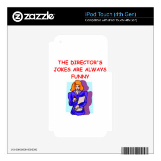 director decals for iPod touch 4G
