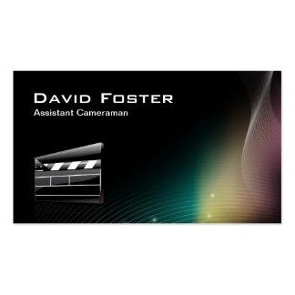 Director del cameraman auxiliar de la película plantillas de tarjetas de visita