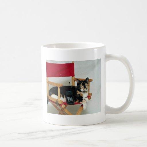 Director del gato tazas de café