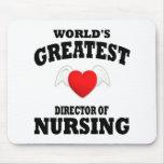 Director del oficio de enfermera tapetes de ratones