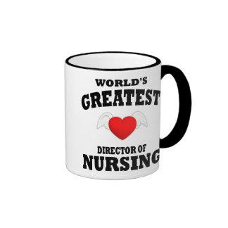 Director del oficio de enfermera taza a dos colores