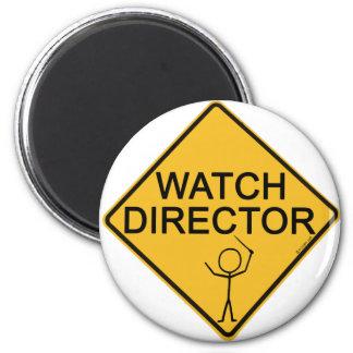 Director del reloj imán redondo 5 cm